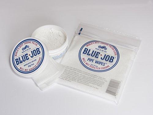 Kit-Blue-Job® Chrome Polish and Blue-job® Pipe Wipe (Exhaust Pipe Paste)
