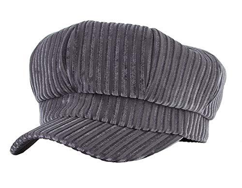 - Gemvie Girl's Velvet Cabbie Newsboy Beret Hat Teen Girls Winter Warm Casaul 8 Panel Baker Boy Visor Beret Cap/Grey 54cm/21.26