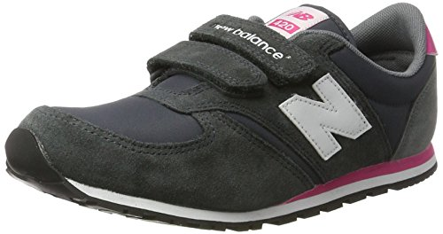 New Balance 420 Hook And Loop, Zapatillas Unisex Niños Gris(Grey/Pink)