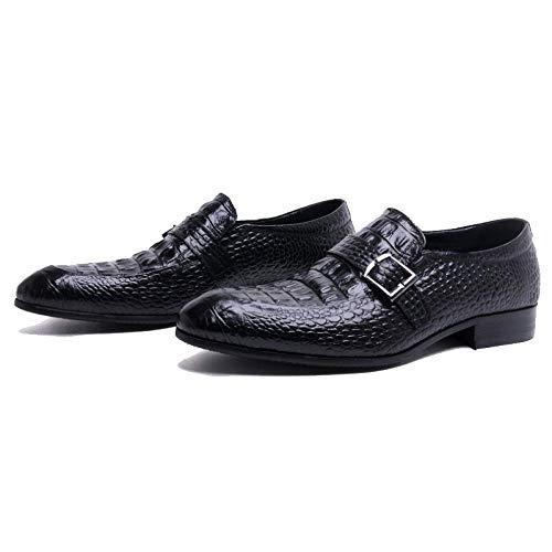 Shoes Business Casual Traspirante Spring in Pelle Men's Black Comfortable British Style Trendy qgFEwEpdZ
