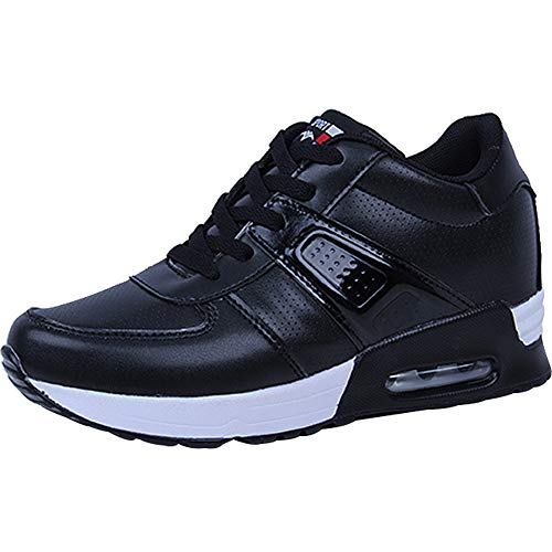 Outdoor Fitness wealsex Chaussure Sport Air Gym Femme Entraînement Sneakers Course Noir Basket Running Cuir 78rn7qY