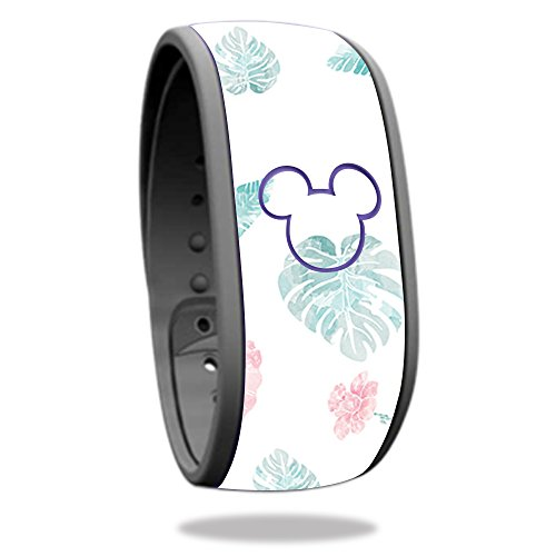 Skin For Disney Magic Band – Paper Flowers | MightySkins Protective, Durable, and Unique Vinyl Decal wrap cover | Easy To Apply, Remove, and Change Styles | Made in the - Fit U Beach Palm West