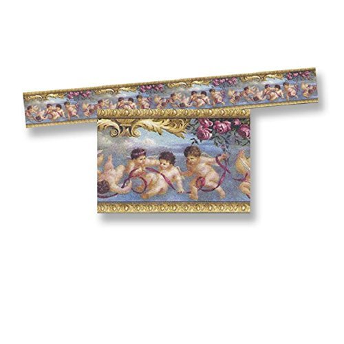 Dollhouse Miniature Trim Floral & Cherub Wallpaper Border by World Model (Cherub Wallpaper)