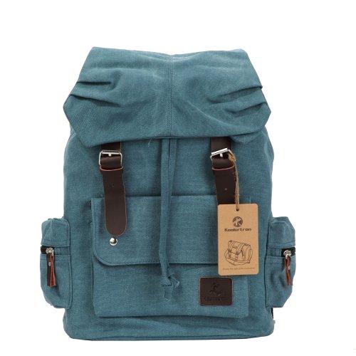 Zicac - Nuevo Moda lona Bolso mochila escolar con estilo clásico para mujer/hombre Mochila para viaje o Senderismo Mochila bolsa de ocio(Azul)