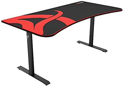 amazon com arozzi arena gaming desk black home kitchen rh amazon com black gaming desk ikea black friday gaming desktop