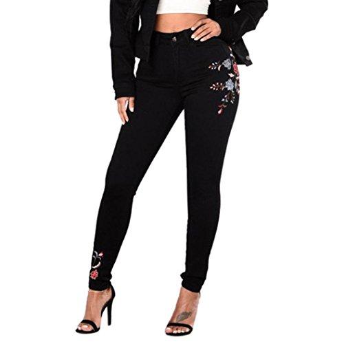 nbsp;skinny Sottili Vita A Stretching Jeans Ripped nbsp; nbsp;fori Pantaloni Alta Matita donne Sammoson 80wxS8npE7