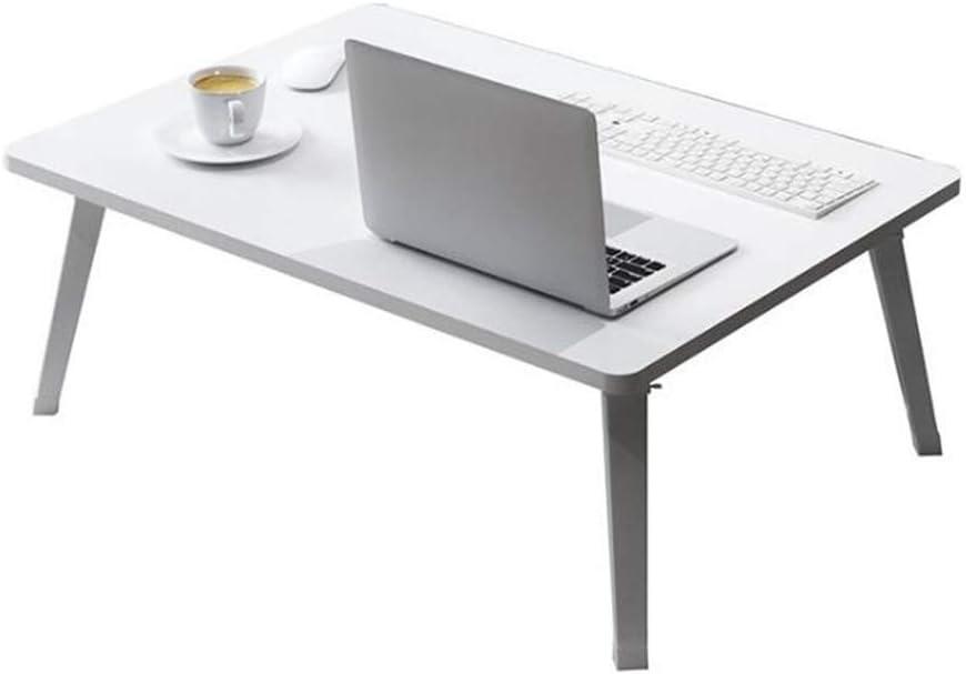 Mesa De Cama Casa Cuadrada para Laptop, Mesa Lateral Ortable Soporte para Computadora Portátil Portátil Escritorio - Gris Conveniente