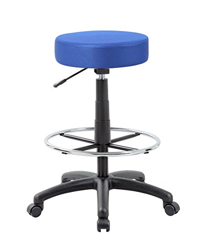 Boss Office Products B16210-BE DOT Drafting Stool in Blue Industrial Drafting Stool
