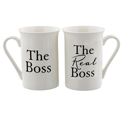 Amore The Boss and The Real Boss by Amore Pair of China Mugs
