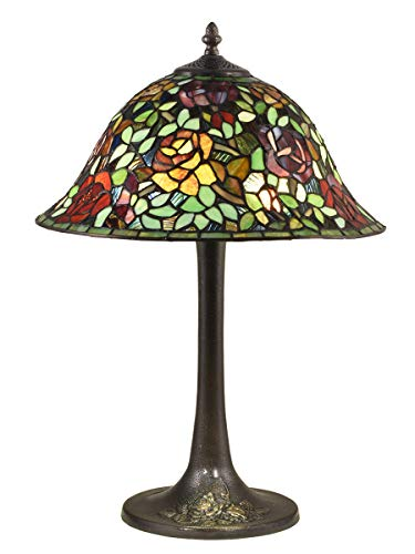 Dale Tiffany TT18188 Garden Rose Table Lamp, Antique Bronze (Dale Tiffany Garden)
