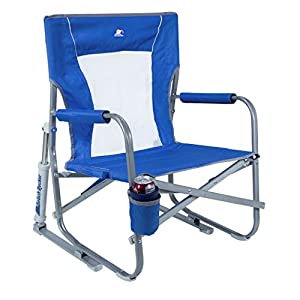 GCI Waterside Beach Rocker Portable Folding Low Rocking Chair
