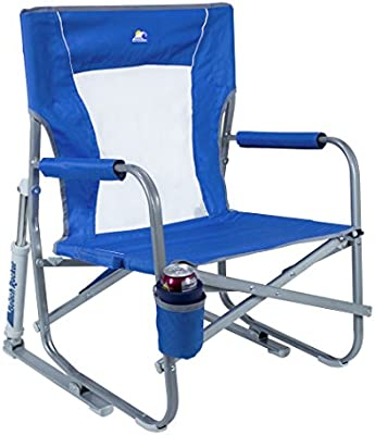 GCI Outdoor Waterside Beach Rocker Portable Folding Low Rocking Chair