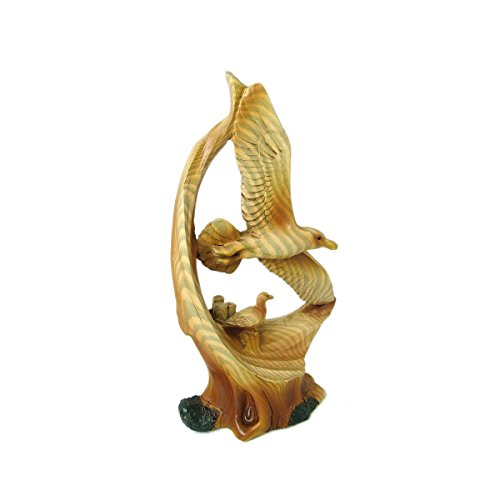 Animal Wildlife Collection Wood Finish Mother and Baby Seagull Figurine