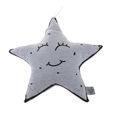 Fengh Cute Little forma de estrella luminoso cojín bebé juguete decoración del hogar (S)