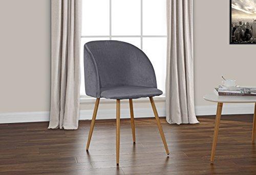 2 Piece Mid century Modern Velvet Armless Minimalist Accent Dinning Chair 415RtrXBNPL