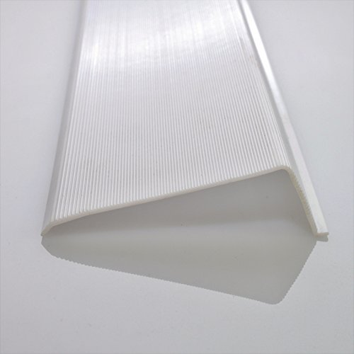 """Trim To Hide Undercabinet Lights: 12"""" Inch Under Cabinet Diffuser White Ribbed Replacement"""