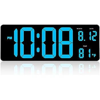Amazon.com: Reloj despertador grande con pantalla digital ...