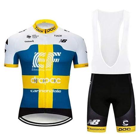 FidgetFidget Mens Summer Short Sleeve Cycling Jersey Bibs Shorts Set Bike  Apparel Shirt Pants Mix( f45677f29
