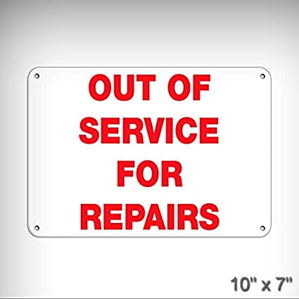 Amazon Com New Out Of Service For Repairs Business Sign Elevator