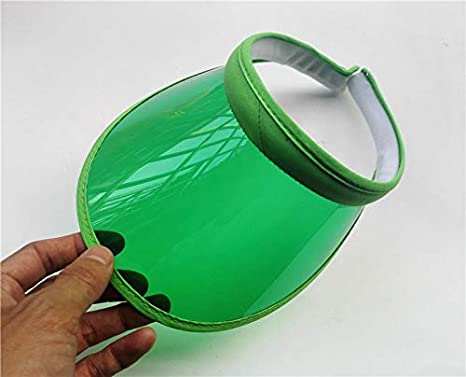 Visera Sombreros De Visera De Sol De Las Mujeres Verdes Grandes ...