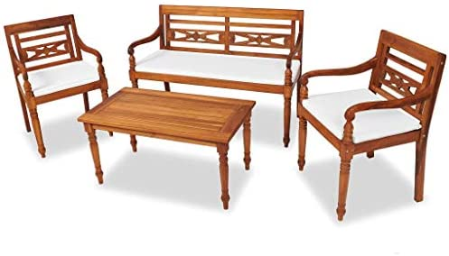 UnfadeMemory Muebles de Jardín Terraza Balcón o Patio con Cojines ...