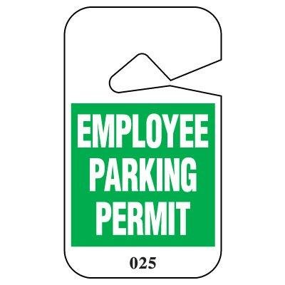 EMPLOYEE...PERMIT/BL/#151-200Black/Blue on White 151-200