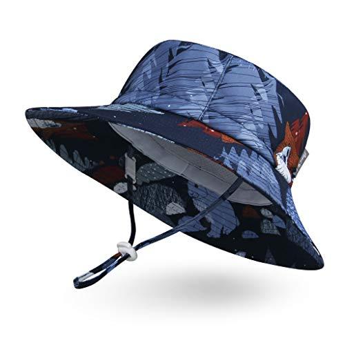 (Ami&Li tots Adjustable Outdoor Sun Hat Water-Proof Bucket Boonie Fishing Cap for Baby Toddler Kids UPF 50 - S: Fox and Bunny)
