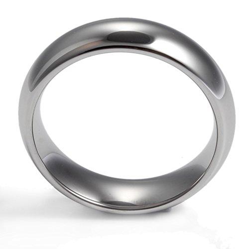 Vnox 8mm Hommes Femmes Haute Polyester Tungstène Carbure Confort Fit Coupé Mariage Bague