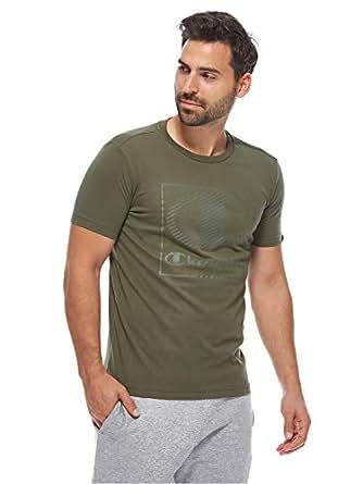 Champion Crewneck T-shirt For Men, M, Green