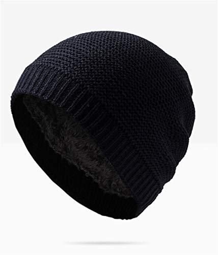 Sombrero Negro Terciopelo los Guichao Sombrero de Sombrero Punto con de Capucha Hombres Invierno de cálido Gorro Lana marrón más de dHnS4w0nx