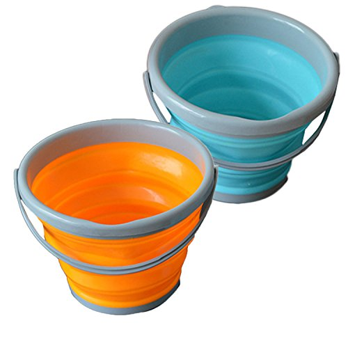 (nobrand Waller PAA 5/10L Hot Folding Collapsible Silicone Bucket Outdoor Barrel Fishing Camping Car (10L))