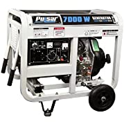 Pulsar PG7000DOF Diesel Powered Generator with Open Frame, 6500-watt Output