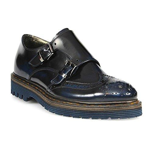 Barracuda Femme BD0563 Bleu Cuir Chaussures À Boucles