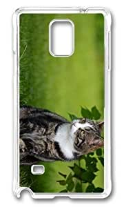 Adorable cat outdoor Hard Case Protective Shell Cell Phone Samsung Galaxy Note2 N7100/N7102 - PC Transparent
