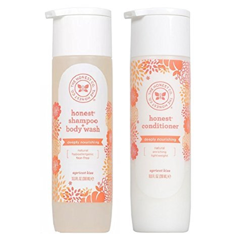 The Honest Company Apricot Kiss Shampoo Body Wash and Conditioner Set of ()