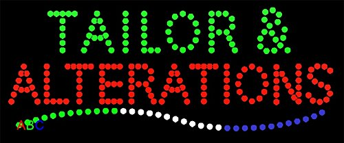 """12""""x24"""" Animated Tailor & Alterations LED Sign w/Flashing..."""