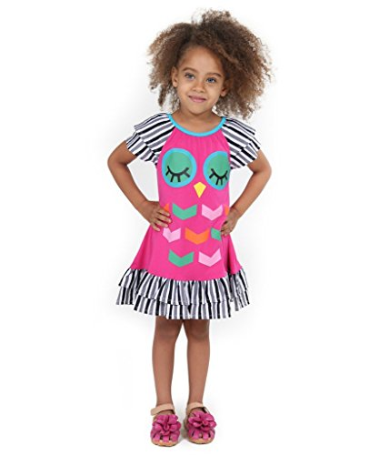 Jelly The Pug Woodland Friends Owl Dress-3T