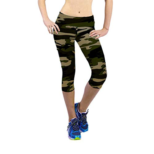 charmsamx Women High Waist Jogger Sweatpants Camouflage Tummy Control Workout Running Pants Yoga Capris Tights Active Leggings Skinny Casual Pants Non See-Through ()