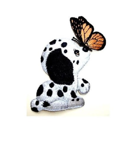 Dog - Puppy - Dalmation Pup - Butterfly - Embroidered Iron On Applique Patch - S by (Custom Dalmation Costumes)