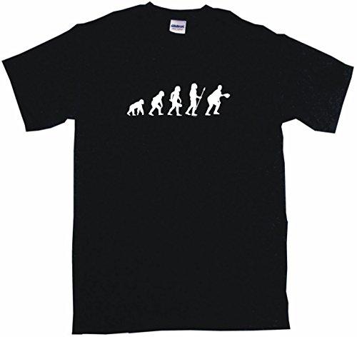Evolution of Humans First Baseman Logo Men's Tee Shirt Large-Black