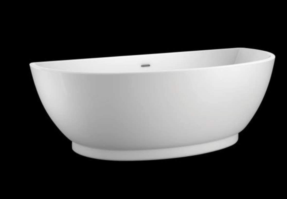 Carver Tubs Trinity 69 Freestanding – Wave Sound Bluetooth Speaker System – Soaking Tub 69 L x 31 W x 23.5 H – White Acrylic Chrome Drain Overflow