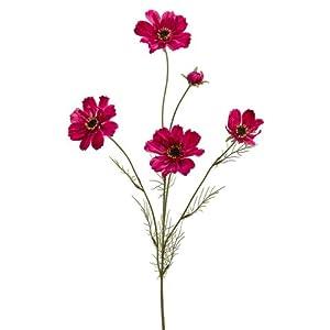 "Silk Flower Arrangements 32"" Silk Cosmos Flower Spray -Beauty (Pack of 12)"