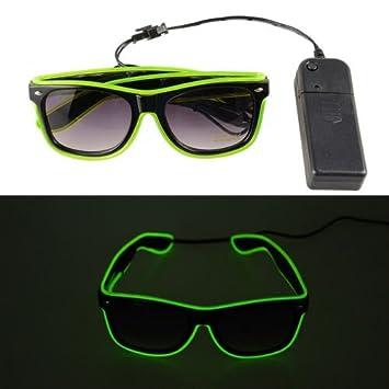 8355002cee 5 pares Gafas de Sol Luminosas LED, Gafas de Sol Brillantes, Gafas de  Alambre EL, ...