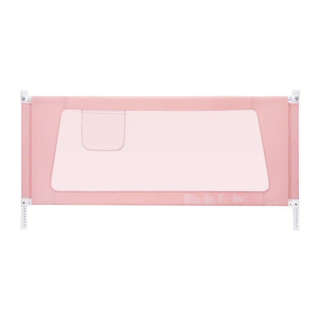 ベッドフェンス 幼児用ベッドレール、フルサイズツインダブルベッドフェンス、ポータブル折りたたみベッドレールガード安全保護ガード (色 : Pink, サイズ さいず : Length 180cm) Length 180cm Pink B07KM3LYS4
