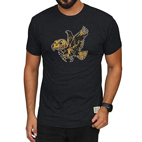 - Elite Fan Shop Iowa Hawkeyes Retro Tshirt Black - XL