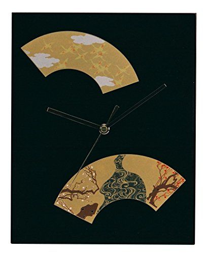 Ikeda lacquer Japanese style wall clock black 64027