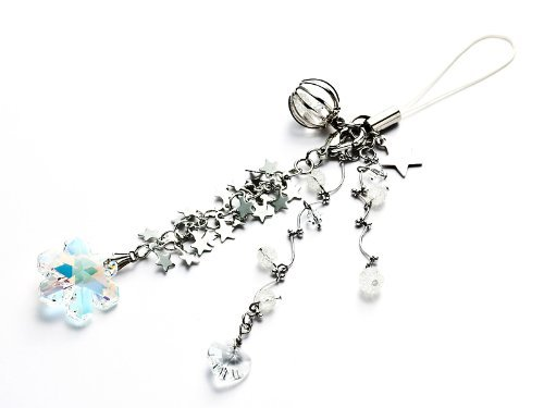 Kisaragi Cell phone Strap)Alight from the sky sparkling snow of crystal strap (Crystal -
