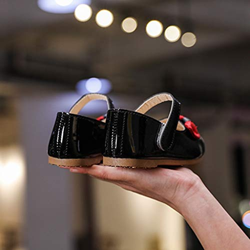 Randolly Toddler Shoes,Children Kids Girls Cat Cartoon Bowknot Princess Dance Single Casual Shoes Black by Randolly (Image #4)