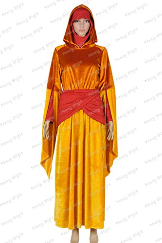 Star Wars Queen Padm¨¦ Amidala Dress Cosplay Costume Orange M (Queen Padme Costume)