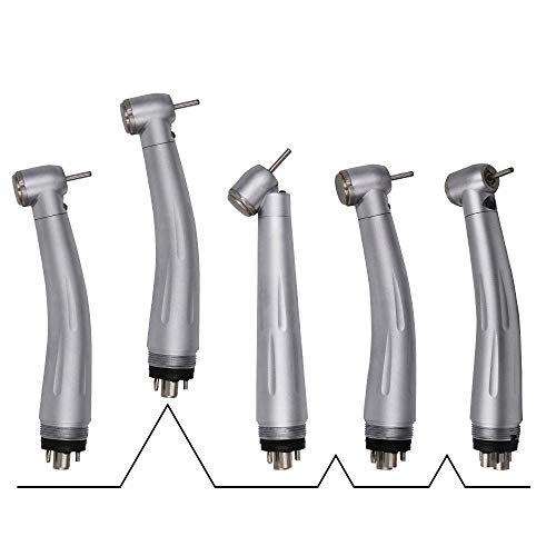 5PCS High Speed Hand Tool Fiber Optic Push Button Set + 2PCS Quick Coupler 6Holes